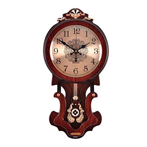 kerryshop Reloj de Pared Reloj de Pared Europeo Reloj Retro Columpio Cuarzo Reloj de Pared Decoración del hogar (12 Pulgadas y 16 Pulgadas) Reloj de Pared Retro (Color : I, Size : 16 Inches)