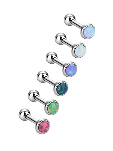 6 Pieces Stainless Steel Opal St...