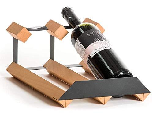 Sywlwxkq Estantes de Mesa para Vino, Soporte de Botella de Vino con Estilo Moderno para 2 o 3 o 4 Botellas, estantes de Almacenamiento, Ideal para la decoración del hogar de la Barra