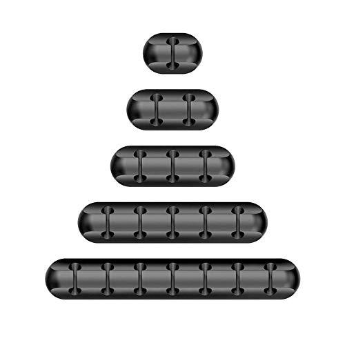 5 Pezzi Clip di Cavi Durevole Organizzatore di Cavi Cable Drop Organizer per la gestione dei cavi con clip per cavi per accessori di ricarica, cavo per mouse, PC, ufficio e casa,accessori di ricarica