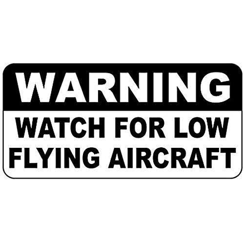 HNNT metalen bord 8x12 inch waarschuwingshorloge voor laagvliegende vliegtuigen Vintage stijl Road Sign