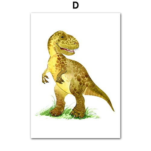 PCCASEWIND Noframe Painting 50X70Cm,Dinosaur Jurassic T Rex Triceratops Art Print Poster Safari Animals Picture Canvas Painting Kids Room Baby Nursery Wall Decor -Hd1130