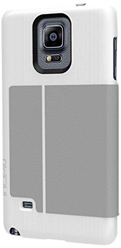 Samsung Galaxy Note 4 Case, Incipio [Premium Folio Case] Highland Case for Samsung Galaxy Note 4-White/Gray