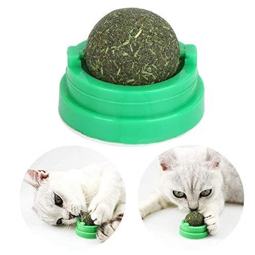 Weiyiroty Cleaning Teeth Catnip Toy, Cat Supplies Rotatable Cat Ball Toy, for Cats Kitty Pet Kitten