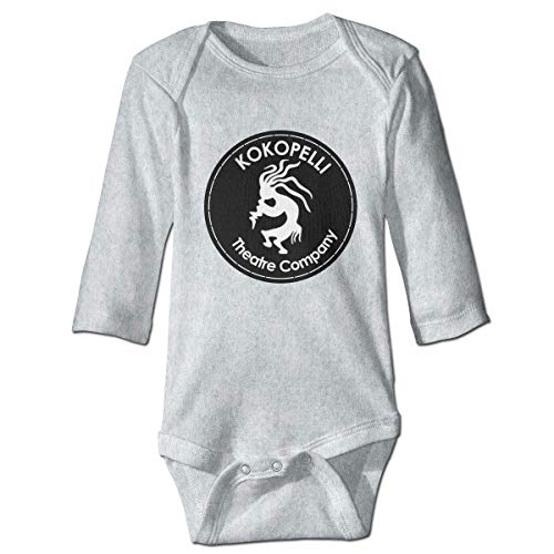 maichengxuan Bodysuit Paller Cool Kokopelli Newborn Infant Toddler Baby Girls Boys Bodysuit Long Sleeve 0-24 Months Gray
