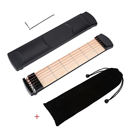 Pocket Guitar Tragbare Gitarre Übung Gerät Akkord Finger Übung für Professional, Anfänger