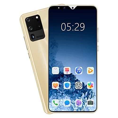 LINGOSHUN Smartphone,512 MB de RAM Y 4 GB de ROM de Memoria Interna Ampliable,Batería de 1800 MAh,TeléFono MóVil sin SIM S23Pro / dorado / 5.72 Inches