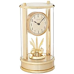 Bulova Clocks Isabel Clock, Polished/Satin Gold Finish