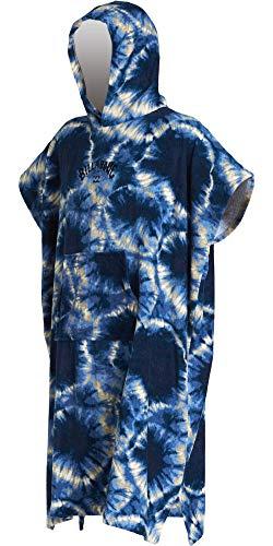 BILLABONG Junior Hooded Poncho oder Wickeltuch für Strand Wassersport & Surfen - Handtuch wechseln - Blue Tie Dye - Unisex