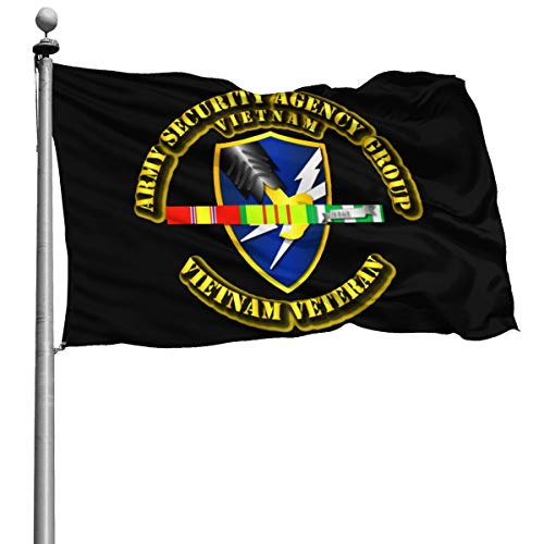 Army Security Agency Vietnam Veteran 4x6 Foot Flag Outdoor Flags Courtyard Garden Terrace Balcony 4x6 Ft 100% Polyester Military Durable