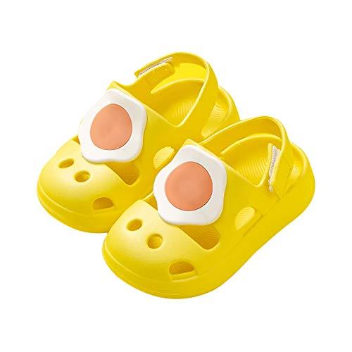 YXCKG Zuecos y Mules Niño Niña Zapatillas, Chanclas Zapatos de Playa y Piscina, Zapatos de jardín para niños, Sandalias con Agujeros en la Playa, Zapatos Ligeros para Exteriores