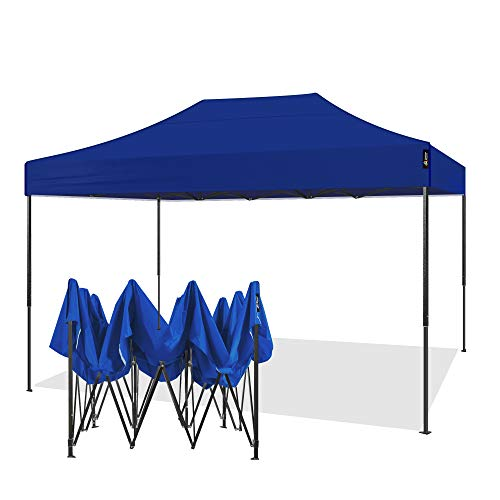 AMERICAN PHOENIX Canopy Tent 10x15 Outdoor Pop Up Easy Portable Instant Wedding Party Tent Event Commercial Fair Car Shelter Canopy (Blue, 10x15)