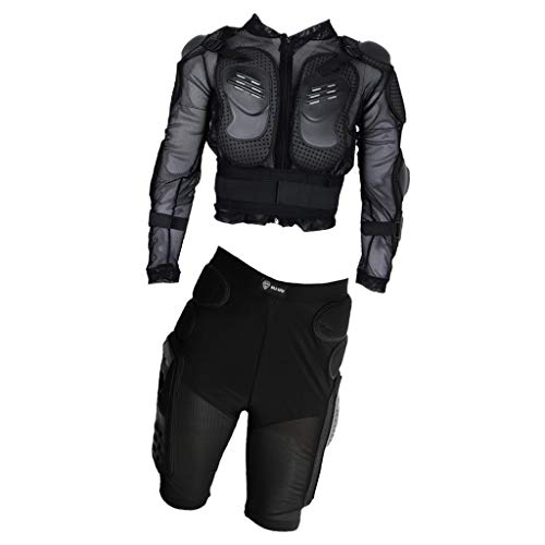 Artsy Gift- Jacket (L)+Short(M)- Motorcycle Protective Suit Sport Motocross Riding Racing Full Body Protector Armor