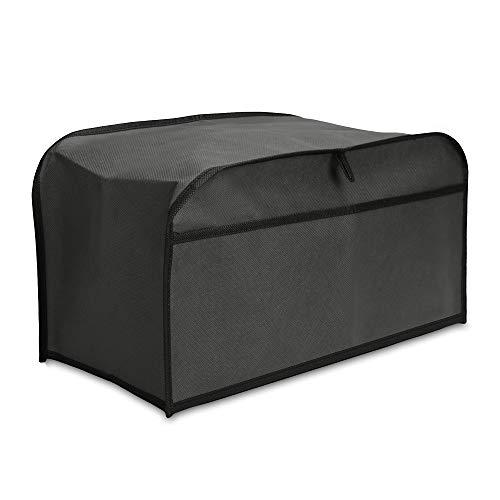 kwmobile Funda Compatible con Tostadora de 4 rebanadas - Cubierta Protectora Antipolvo para tostadora - En Gris Oscuro