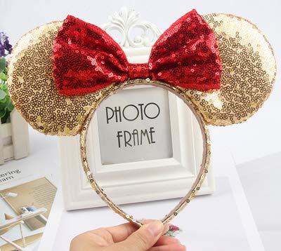 Couvre-chef unique Minnie Mouse oreilles Bandeau FestivalHair Accessoires hairband Noël Paillette Bows cheveux pour les filles un cadeau aux femmes