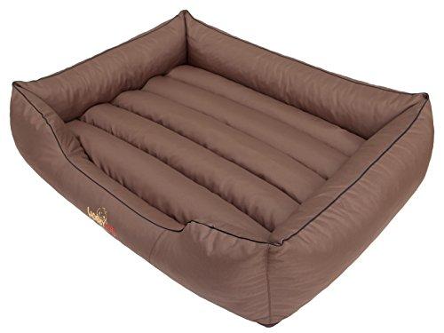 Hobbydog CORJBR4 Hundebett, Sofa, Korb Tierbett Comfort, Größe XL, 82 x 62 cm, Hellbraun