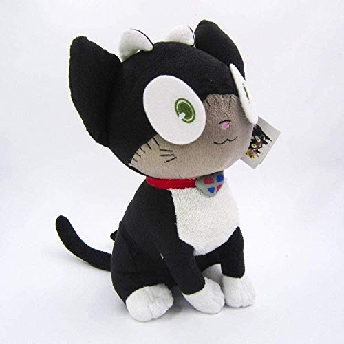 NC56 Straight Batch of Blue Exorcist Black Cat Fairy Tail Plush Doll Creative Toy Cos Black Cat About 30Cm