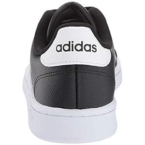 adidas Women's Grand Court Running Shoe, Black/White/Black, 9 M US