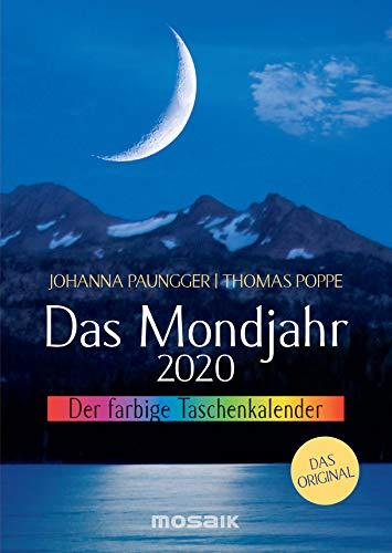 Das Mondjahr 2020: Der farbige Taschenkalender - Das Original