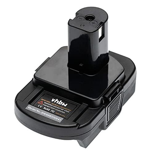 vhbw adattatore compatibile con Black & Decker utensile/batteria - Per batterie 20 V Li-Ion su batterie 18 V compatibili con Ryobi dispositivi