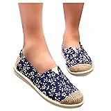 koperras Stoffschuhe Sneakers Damen Atmungsaktive Bestickte Schuhe Laufschuhe Leichtgewichts Walkingschuhe Rutschfeste Bequeme Abriebfeste Freizeitschuhe Running Shoes Rot Blau