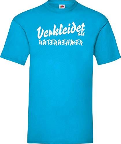 Shirtinstyle Camiseta carnaval VESTIDO como empresario LO MEJOR revestimiento Disfraz de carnaval - turquesa, XL