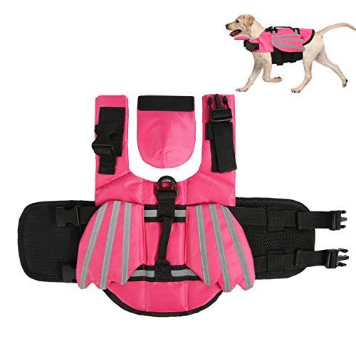 Haokaini Chaleco Salvavidas para Perros Chaleco Salvavidas de Flotación para Mascotas con Alas Traje de Baño para Salvavidas para Perros para La Seguridad del Agua en La Piscina Paseos en