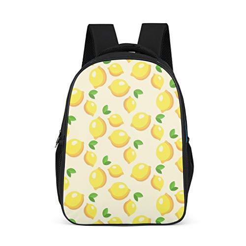Mochila de frutas de limón patrón Bookbag ligero Daypack portátil bolsa para adultos niño, color, talla Talla única