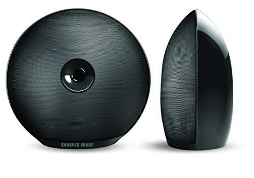 Sharper Image SBT622BK 2 Bluetooth Speakers, Rechargeable Sound System, Portable Wireless Stereo Speakers