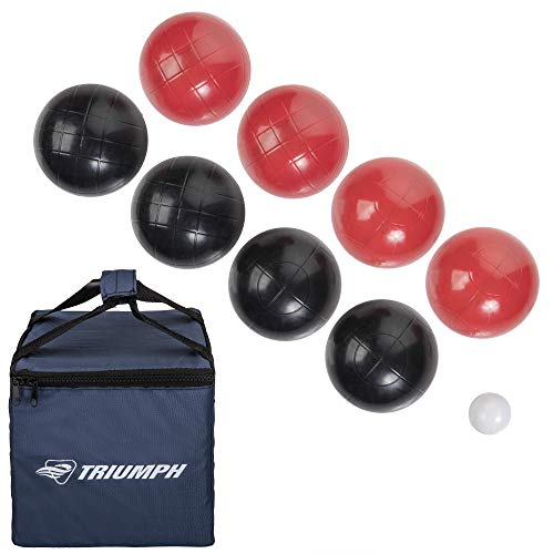 Triumph 100mm Classic Bocce Ball Set - Includes 8 Bocce Balls, Jack...