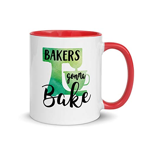 Bakers Gonna Bake Color Coffee Mug | Funny Baking Mug | Mixer Mug | Baking Gift | Gift For Baker | Gift For Her | Cookie Queen | Cupcake Queen | Bakery Opening | Baking Hobby | Best Baker Ever (11oz)