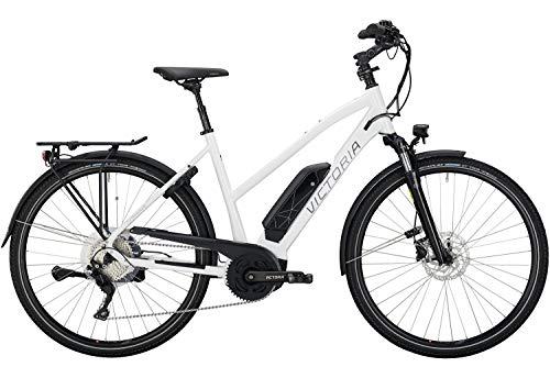 """Victoria e-Trekking 8.8 E-Bike Mod. 2020 Trapez (Weiß-Grau, 48cm (28\""""))"""