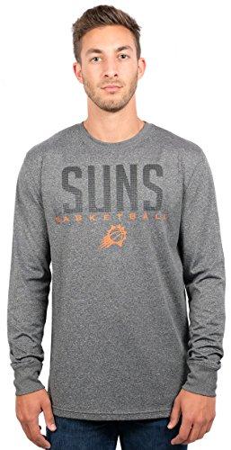Ultra Game NBA Phoenix Suns Mens Active Long Sleeve Tee Shirt, Heather Charcoal, Medium