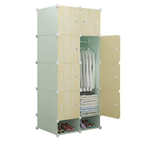 JHDDP3 Armario portátil for Colgar Ropa - plástico, armarios Combinados de Resina Armario Modular, Ahorro de Espacio - L76CM * W47CM * H165CM