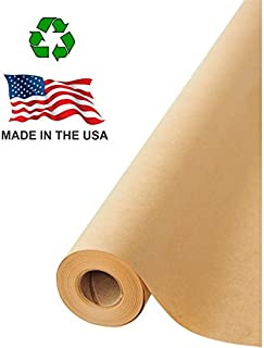 """Made in USA Brown Kraft Paper Jumbo Roll 17.75"""" x 1200"""" (100ft) Ideal for Gift.."""