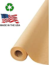 "Made in USA Brown Kraft Paper Jumbo Roll 17.75"" x 1200"" (100ft) Ideal for Gift Wrapping, Art, Craft, Postal, Packing, Shipping, Floor Covering, Dunnage, Parcel, Table Runner 100% Recycled Material"