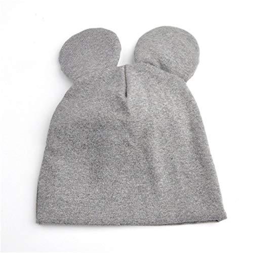mlpnko Sombrero recién Nacido Invierno algodón bebé Sombrero niño Sombrero bebé Doble Capa Gris M