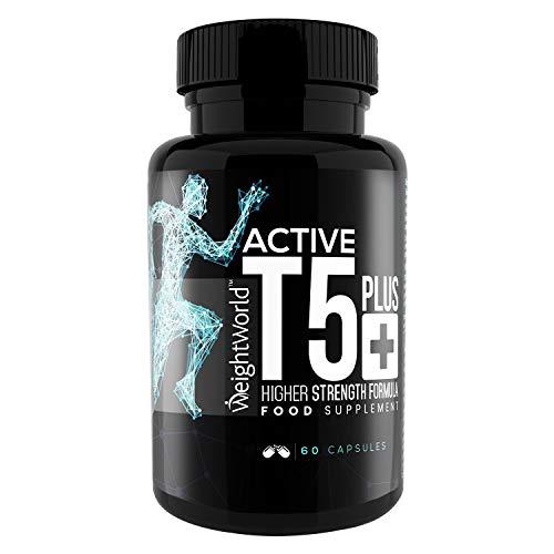 ACTIVE T5+ BRULEUR DE GRAISSES - Maigrir rapidement efficacement - 100% Naturel Produit Thermogène Puissant - Caféine, Thé Vert, Piment de Cayenne - Booster Énergie et Vitalité pour Sports