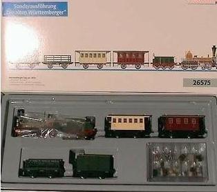 Märklin 26575 Zugset Württemberger Zug um 1859