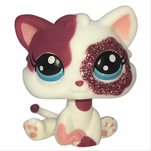LPS CAT Pet Shop Toys Rare Stands Little Short Hair Kitten Pink #2291 Gris # 5 Negro # 994 Old Original Kitty Figure Collection A 2291S#