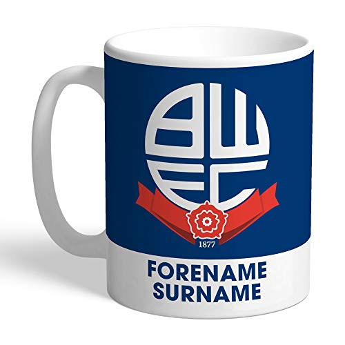 Official PERSONALISED Bolton Wanderers FC Bold Crest Mug
