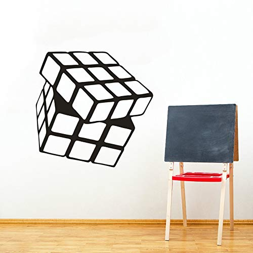Rubik's Cube - Adhesivo decorativo para pared (57 x 56 cm)
