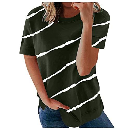 Damen Longshirt Kurzarm Damen T Shirt...