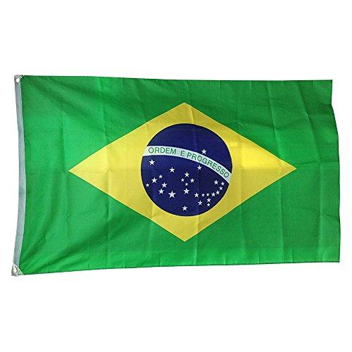 Naicasy 150 x 90 cm Drapeau Brésilien