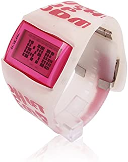 KDNYV Fashion Digital LED Wrist Clock with Silicone Band (Color : Pink)