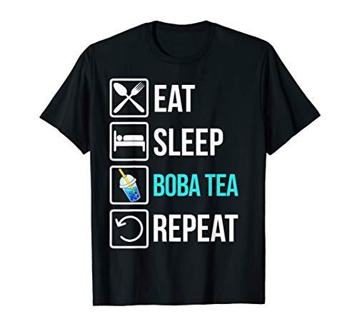 Lustig Eat Sleep Boba Tea Repeat - Bubble Tee T-Shirt
