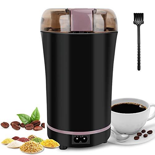 POWERAXIS Macina caffè Elettrico, Macinino MacinaCaffè Elettrico 50g Coffee Grinder per Chicchi di caffè Grani Spezie Erbe Frutta a Guscio Grano Semi Pepe Zucchero Sale