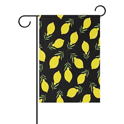Jessgirl Kleine Gartenflagge Zitronenblätter Nahtloses 12x18 Zoll vertikales doppelseitiges Bauernhaus Summer Yard Outdoor Decor