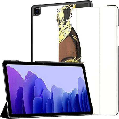 Funda para Samsung A7 2020 Hermosa niña Africana Corona Mujer Negra Ajuste Samsung Galaxy Tab A7 10.4 Pulgadas 2020 Compatible con Galaxy A7 Funda Funda de Cuero para Tableta PU