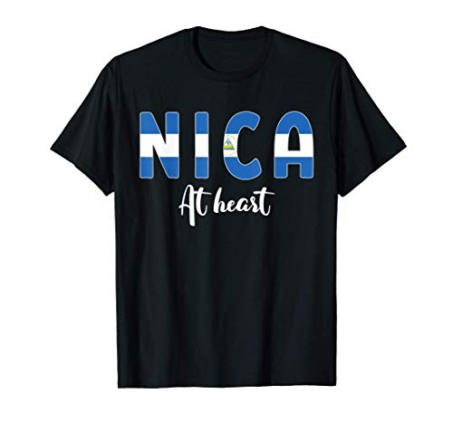 Nica At Heart - Bandera de Nicaragua Orgullo Nica Pinolero Camiseta